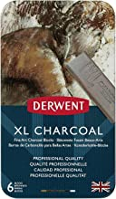 Derwent XL Charcoal Blocks, Metal Tin, 6 Count (2302009)