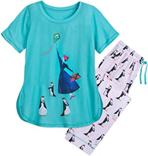 Mary Poppins PJ Set for Women - Mary Poppins Returns Size LADIES 2XL Multi