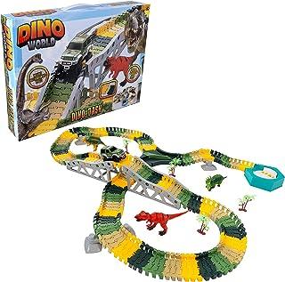 Wowow Toys & Games Dinosaur Race Track Toy Car Set |بناء وإنشاء مجموعات هدايا Gurassic World 200+ الخاصة بك للأطفال بنين و...