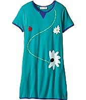 Sonia Rykiel Kids - Short Sleeve Dress w/ Flower Design On Front (Big Kids)