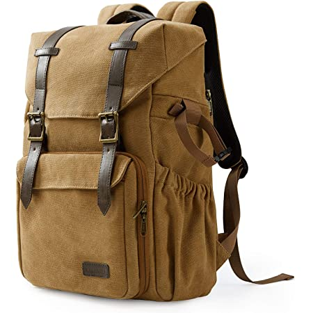 """Camera Backpack, BAGSMART DSLR Camera Bag, Waterproof Camera Bag Backpack for Photographers, Fit up to 15"""" Laptop with Rain Cover and Tripod Holder, Khaki"""