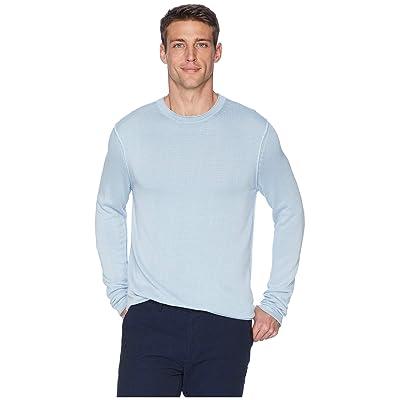 Tommy Bahama South Shore Flip Crew Neck Sweater (Aqua Ice) Men