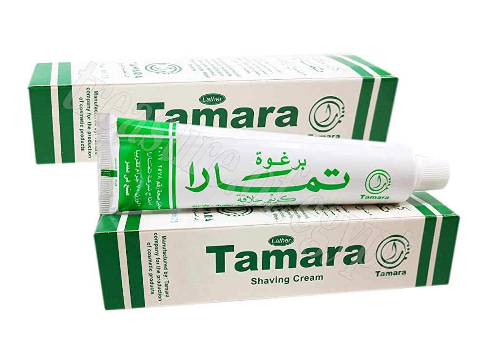 セメント盲目懲戒Tamara Lather Shaving Cream Men Smoothing Toiletries Shave Skin with Menthol & Glycerin & Coconut Oil Tube 70 g (2 Packs / 140 g)