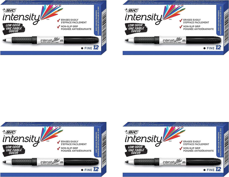 Bic 5 ☆ popular Dry Erase Branded goods Markers BICGDE11BK Pack 4 -