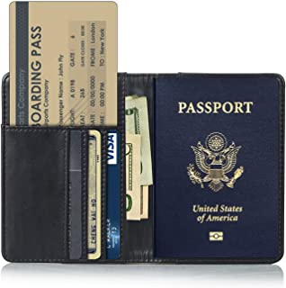 e577731ca9bc EpicGadget RFID Blocking Premium PU Leather Passport Holder Travel Wallet  Cover Case