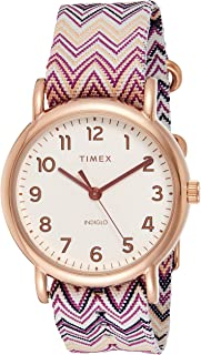 Timex Women's Quartz Watch, Analog Display and Textile Strap TW2R59000