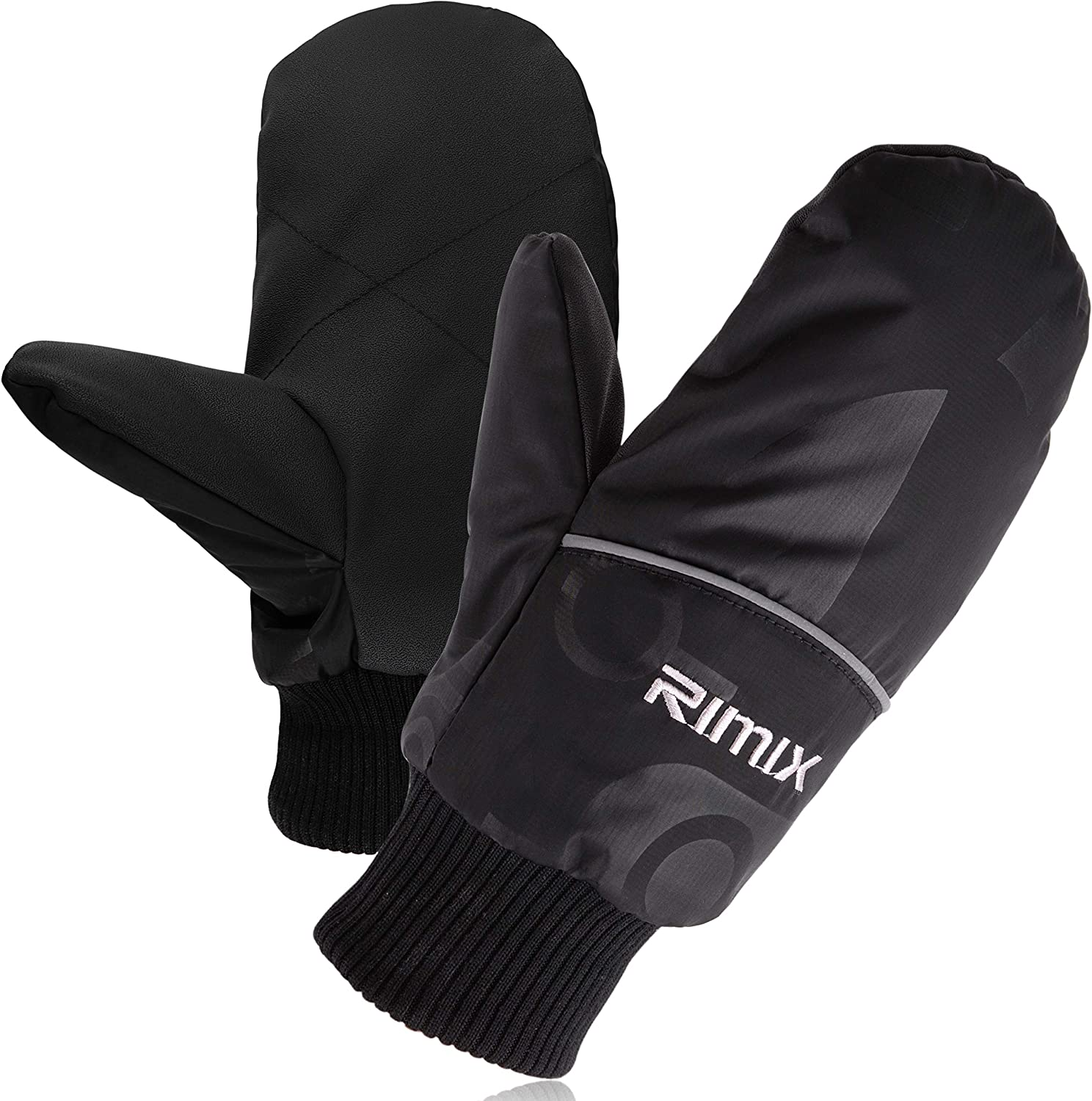 Winter Down Gloves for Men Women Waterproof Insulated Mittens with Finger Liners