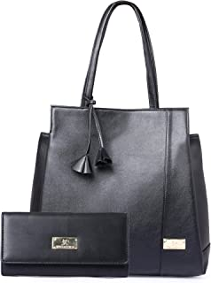 Speed X Fashion Women's Black (Handbag Combo)