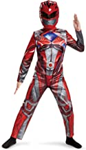 Disguise Red Power Ranger Costume 10-12 – Kids Power Rangers Red Ranger Costume – Vibrant Red and Silver Jumpsuit and Half-Mask – Easy Sizing and True to Size (18972G)