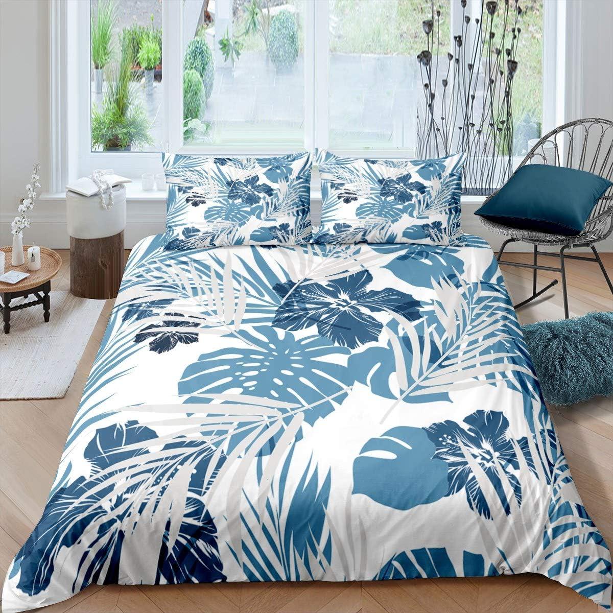 Duvet Cover Set King Size Branch Bedspre OFFer Light Pant Mint Max 45% OFF 3D Blue