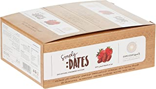 Expo 2020 Dubai Strawberry Dates Bar pack of 24 X 30G 100% Natural