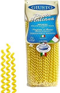 Giusto Sapore Italian Pasta - Fusilli Col Buco 454g - Premium Organic Bronze Drawn Durum Wheat Semolina Gourmet Pasta Brand - Imported from Italy and Family Owned
