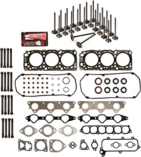 Evergreen HSHBIEV5030 Head Gasket Set Head Bolts Intake Exhaust Valves Fits Mitsubishi Eclipse Galant 3.0L 6G72 24V