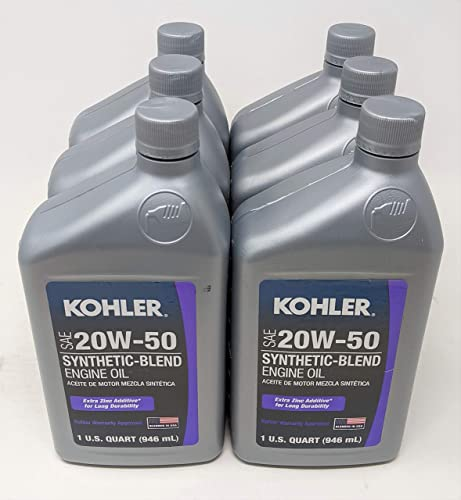 wholesale Kohler popular 25 357 68-S Synthetic Blend SAE 20W50 4-Cycle Engine Oil sale (6-Quarts) outlet online sale