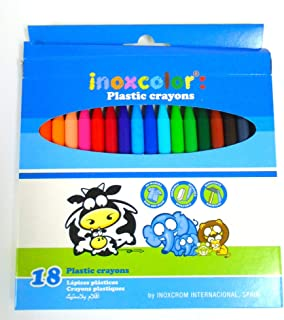 Plastic Crayons 18 color Made Spain