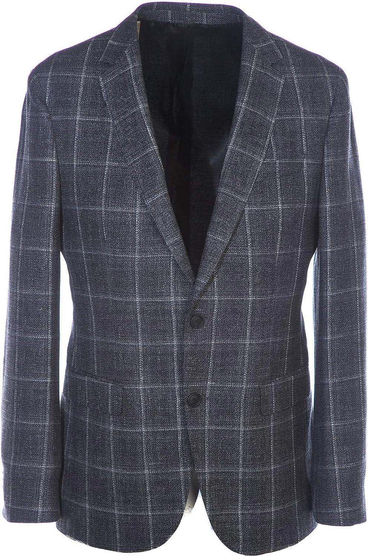 BOSS Nasley Jacket in Grey Check
