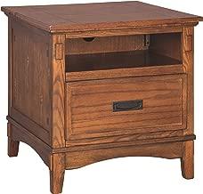 Ashley Furniture Signature Design - Cross Island End Table - 1 Drawer - Rectangular - Medium Brown