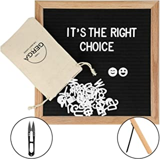Felt Letter Board Frame | Black Color | 340 Letters | Excellent Size | Changeable Letter Board Oak Wood | Free Canvas Bag & One Scissor | Be Creative & Engaging | Every Occasion Gift