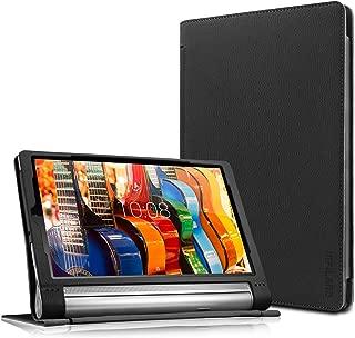 Lenovo Yoga Tab 3 Plus/Lenovo Yoga Tab 3 Pro 10 Case - Infiland Folio Premium PU Leather Stand Cover Fit for Lenovo Yoga Tab 3 Plus 10.1/ Lenovo Yoga Tab 3 Pro 10.1-Inch Tablet, Black