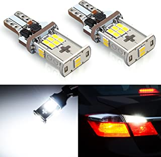 JDM ASTAR 2000 lumens Extremely Bright Error Free 360-Degree Shine 921 912 GX-3020 Chipsets LED Bulbs For Backup Reverse Lights, Xenon White