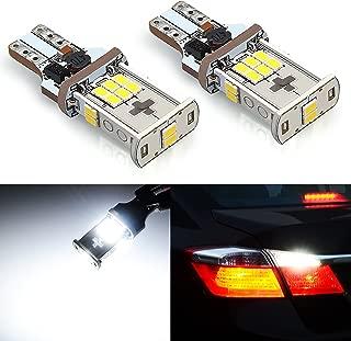 JDM ASTAR Super Bright Error Free 360-Degree Shine 921 912 GX-3020 Chipsets White LED Bulbs For Backup Reverse Lights