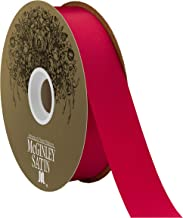 Berwick Offray 1.5'' Polyester Lustre Satin Ribbon, Holiday Red, 100 Yards