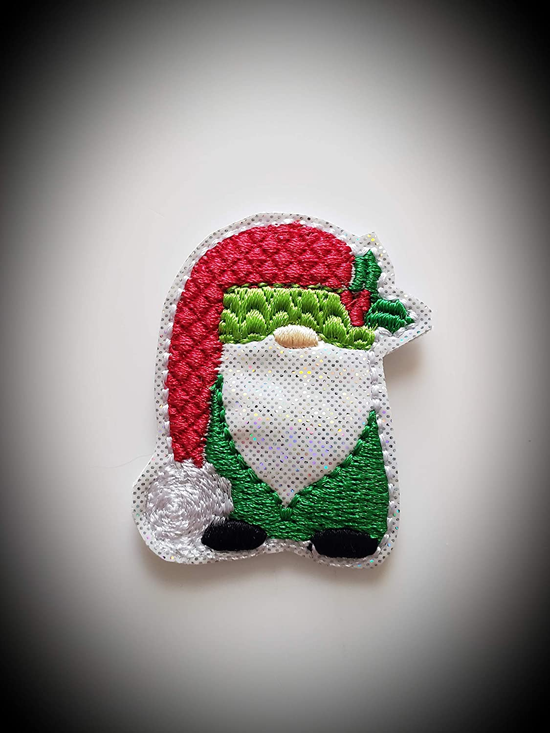Christmas Gnome Feltie We OFFer at cheap prices - Sales results No. 1 Set of Irridescent UNCUT 4 White Vi