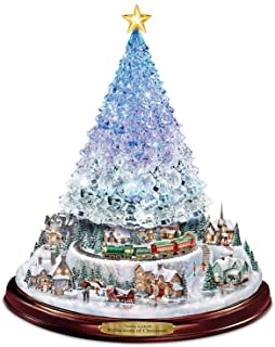 Bradford Exchange Thomas Kinkade Crystal Tabletop Christmas Tree: Lights Motion and Music by The