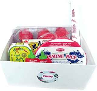 Asian Food Delight Food Bundle Includes Cooked Salted Duck Eggs, Dynasty Jasmine Rice, Nuri Sardines and Chili Sauce
