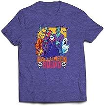 lepni.me Men's T-Shirt Halloween Squad-Vampire, Ghost, Werewolf, Witch, Zombie