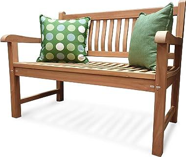 Atlantis - Panca da giardino Comfort Plus + 3 posti/150 cm, in legno di teak, resistente alle intemperie, aspetto classico (per giardini)