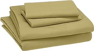 AmazonBasics Kid's Sheet Set - Soft, Easy-Wash Microfiber - Queen, Mossy Green