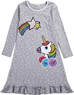 Cotton Dog Unicorn Print Girl Clothes Princess Party Girls' Cacual Dress for Girl
