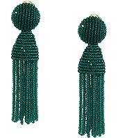 Oscar de la Renta - Short Beaded Tassel Earrings