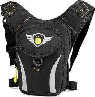 Fansport riñoneras de Pierna Bolsa de Cintura Hombre Moto,Fanny Waist Pack Bolso Pierna Moto Hombre Cintura Accesorio para...