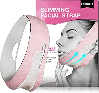 Double Chin Reducer, Face Slimming Strap, Chin Strap for Face, V line face lifting belt for improving Sagging skin, Anti W...