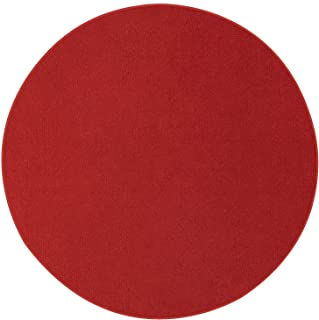 Indoor/Outdoor Red Area Rugs with Premium Non Skid Backing Great for Patio, Porch, Deck, Party, Garage, Boat, Event, Basement, Wedding Tents and More Available Size 2' Round