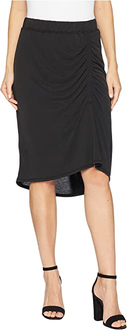 Sandwash Jersey Slit Skirt