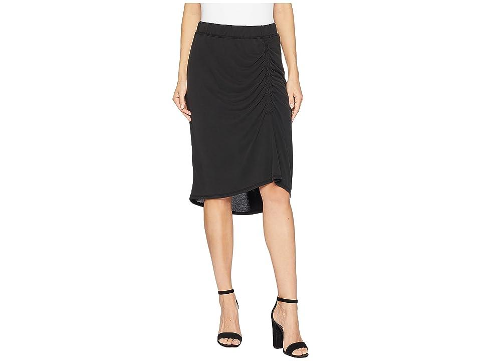 Splendid Sandwash Jersey Slit Skirt (Black) Women