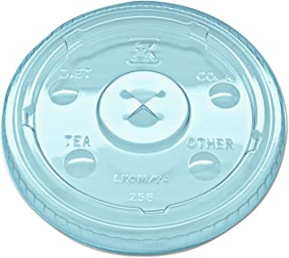 Fabri-Kal LKC1624 Kal-Clear/Nexclear Drink Cup Lids, F/12-24 oz Cups, Clear, Plastic (Case of 1000)