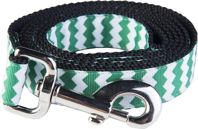 Paw Paws USA Chevron Dog Leash, XSmall, Green