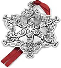 Wallace 2017 Sterling Silver Grand Baroque Snowflake Ornament, 20th Anniversary Edition