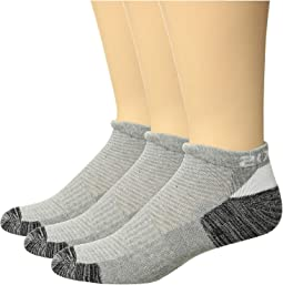 3-Pack Low Cut Sock Heather