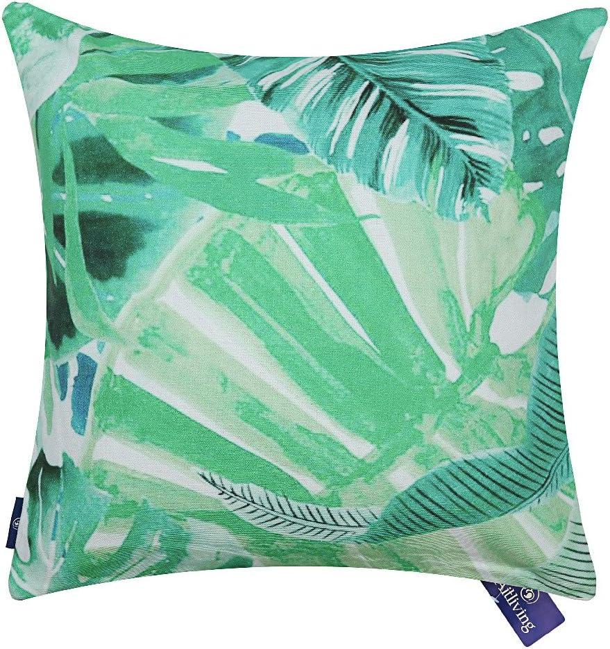 Aitliving Accent Pillow Case Painted Cotton Print Canvas Ocean Tropical  Palm Tree Banana Leaf Decorative Cushion Pillow Cover 20