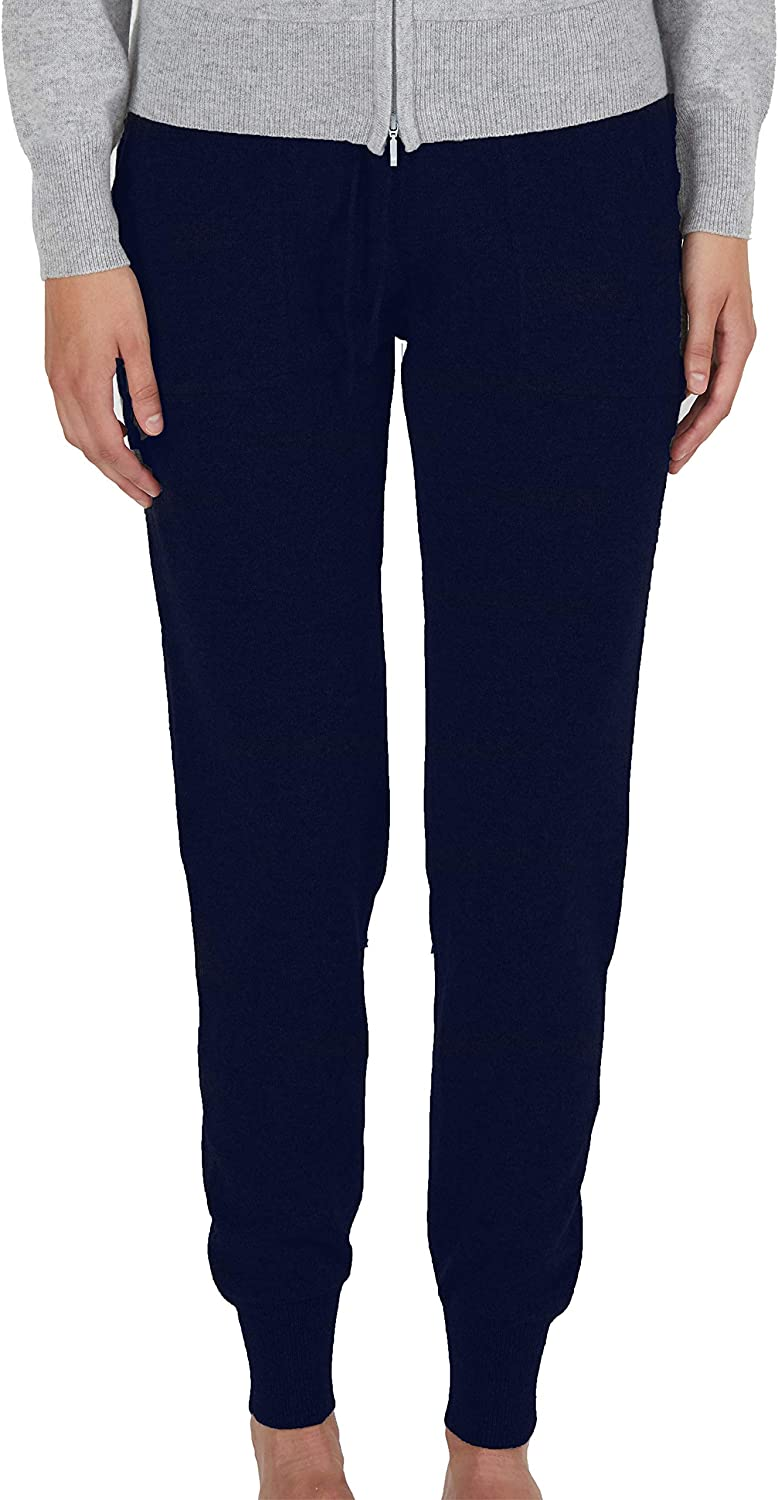 JENNIE Long-awaited LIU Ranking TOP5 Women's 100% Pure Knitted Jogger Pants Cashmere