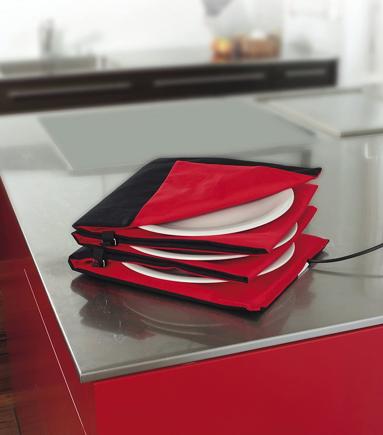Solis Petit Electroménager 906.31 Chauffe Assiette King Size Rouge-anthrazit (Import Allemagne) Anthracite, Rouge