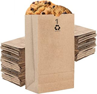 Stock Your Home 1 Lb Kraft Brown Paper Lunch Bags (250 Count) - Mini Paper Bags for Packing Lunch - Blank Kraft Brown Pape...