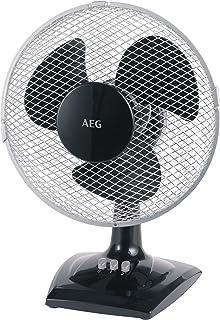 AEG VL 5528 Ventilador portátil de mesa y pared, 23 cm, 2 velocidades, 25 W, Negro