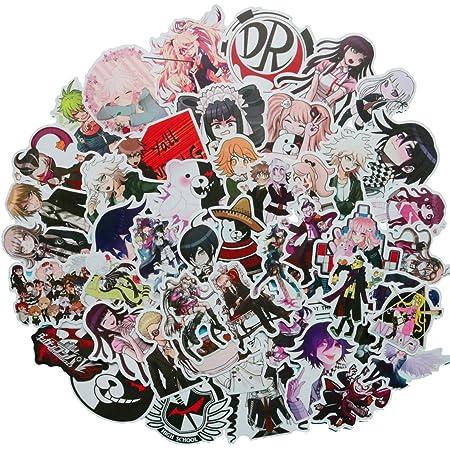 Maidudu 100 pcs Waterproof Danganronpa Stickers Danganronpa Trigger Happy Havoc Vinyl Anime Cartoon Stickers
