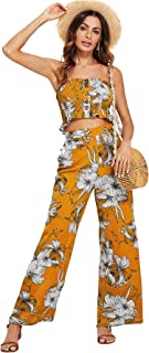 Women's Strapless Tube Top and Pants Two Piece Set